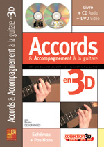 Accords et accompagnement à la guitare en 3D
